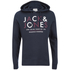 Jack & Jones Men's Core Noah Print Hoody - Navy Blazer: Image 1