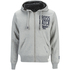 Crosshatch Men's Clarkwell Borg Lined Zip Through Hoody - Grey Marl: Image 1