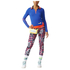 adidas Women's Stella Sport Print Training Tights - Blue/Pink: Image 7