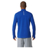 adidas Men's Response 1/4 Zip Long Sleeve Running T-Shirt - Blue: Image 3