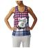 adidas Women's Stella Sport Cotton Training Tank Top - Blue/Pink: Image 1