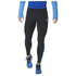 adidas Men's Response Long Running Tights - Black/Blue: Image 1