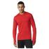 adidas Men's Supernova Long Sleeve Running T-Shirt - Red: Image 1