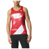 adidas Men's Adizero Running Singlet - Red: Image 7