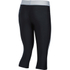 Under Armour Women's HeatGear Sport Capri Tights - Black/True Grey Heather: Image 2