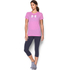 Under Armour Women's Favorite Big Logo Short Sleeve T-Shirt - Verve Violet: Image 3