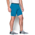 Under Armour Men's Armour HeatGear Compression Training Shorts - Brilliant Blue/Stealth Grey: Image 3