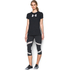 Under Armour Women's Favorite Big Logo Short Sleeve T-Shirt - Black/White: Image 3