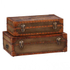 Leather & Canvas Pan Am Trunk (Set of 2): Image 1