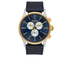 Nixon The Sentry Chrono Leather Watch - Gold/Blue Sunray: Image 1