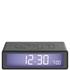 Lexon Flip Clock - Gun Metal: Image 1