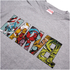 Marvel Herren Comic Strip Logo T-Shirt - Sport Grau: Image 3