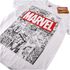 Marvel Men's Mono Comic T-Shirt - White: Image 2