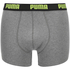 Puma Men's 2-Pack Striped Boxers - Charcoal/Light Grey: Image 4