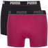 Puma Men's 2-Pack Boxers - Pink/Black: Image 1