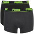 Puma Men's 2-Pack Trunks - Grey/Black: Image 1
