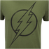 DC Comics Herren The Flash Line Logo T-Shirt - Militär Grün: Image 5
