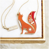 Folklore 'Mr Fox' Enamel Necklace: Image 1