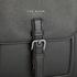 Ted Baker Men's Raised Edge Leather Flight Bag - Black: Image 5