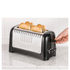 Dualit 46025 Lite 4 Slice Long Slot Toaster - Metallic Black: Image 4