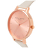 Olivia Burton Women's Big Dial Vegan Watch - Nude & Rose Gold: Image 6