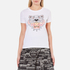 KENZO Women's Printed Tiger On Cotton Single Jersey T-Shirt - White: Image 1