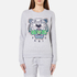 KENZO Women's Embroidered Tiger On Light Cotton Molleton Sweatshirt - Light Grey: Image 1