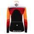 Santini Women's Coral Thermal Long Sleeve Jersey - Orange: Image 3
