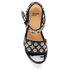 Toga Pulla Women's Leather Flatform Sandals - Black: Image 3