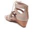 UGG Women's Yasmin Snake Tassle Leather Wedged Sandals - Horchata: Image 4