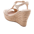UGG Women's Fitchie II T-Strap Jute Wedged Espadrille Sandals - Soft Gold: Image 4