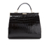 Aspinal of London Women's Large Frame Bag - Black Croc: Image 6