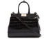 Aspinal of London Women's Small Snap Bag - Black Croc: Image 1