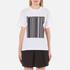 Alexander Wang Women's Bonded Barcode Boxy Crew Neck T-Shirt - Bleach: Image 1