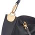 Diane von Furstenberg Women's Moon Calf Hair/Leather Large Hobo Bag - Black: Image 4