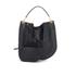 Diane von Furstenberg Women's Moon Calf Hair/Leather Large Hobo Bag - Black: Image 1