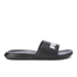 Puma Popcat Slide Sandals - Black/Black/White: Image 3