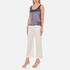 T by Alexander Wang Women's Stretch Cotton High Waisted Culottes - Eggshell: Image 4