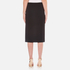 T by Alexander Wang Women's Stretch Poly Twill Slick Pencil Skirt with Slit - Black: Image 3