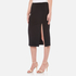 T by Alexander Wang Women's Stretch Poly Twill Slick Pencil Skirt with Slit - Black: Image 2