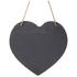 Parlane Heart Slate Memo Board - Black (30 x 29cm): Image 1