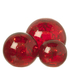 Parlane Glass Crackle Ball Lights - Red (Set of 3): Image 1