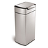simplehuman Rectangular Brushed Steel Touch Bar Bin 30L: Image 1