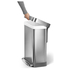 simplehuman Rectangular Brushed Steel Pedal Bin with Liner Pocket 55L: Image 4