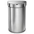 simplehuman Semi-Round Brushed Steel Sensor Bin 45L: Image 1