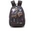 Spiral Game Over Back Pack With Laptop Pocket - Black: Image 1