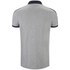 Brave Soul Men's Mozi Jersey Polo Shirt - Light Grey Marl/Navy: Image 2