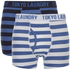 Tokyo Laundry Men's Esterbrooke 2 Pack Striped Boxers - Federal Blue/Optic White: Image 1