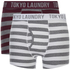 Tokyo Laundry Men's Esterbrooke 2 Pack Striped Boxers - Mid Grey Marl/Optic White: Image 1