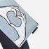 Lulu Guinness Women's Heart Hands Denim Grace Pouch - Denim: Image 3